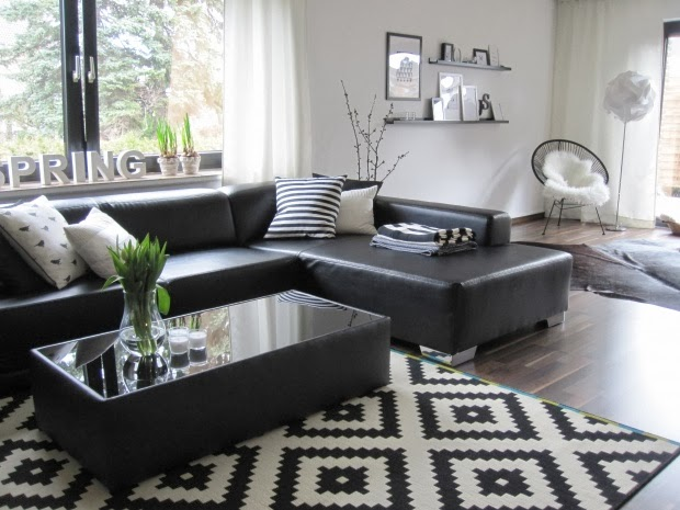 salas en blanco y negro salas con estilo. Black Bedroom Furniture Sets. Home Design Ideas