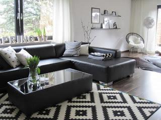 sala blanco con negro