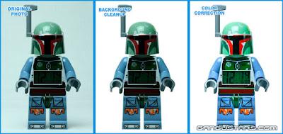 Star Wars Boba Fett LEGO clock figure giant ESB Empire