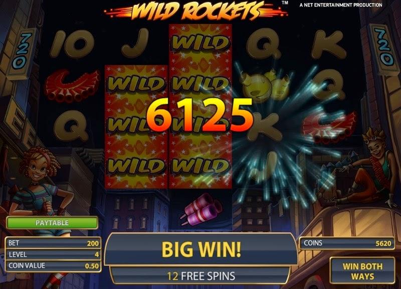 Wild Rockets Video Slot Screen