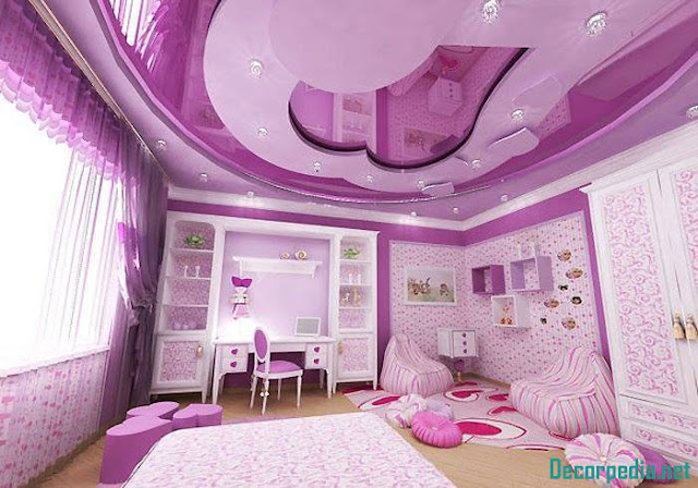 kids room ceiling designs and ideas, purple ceiling