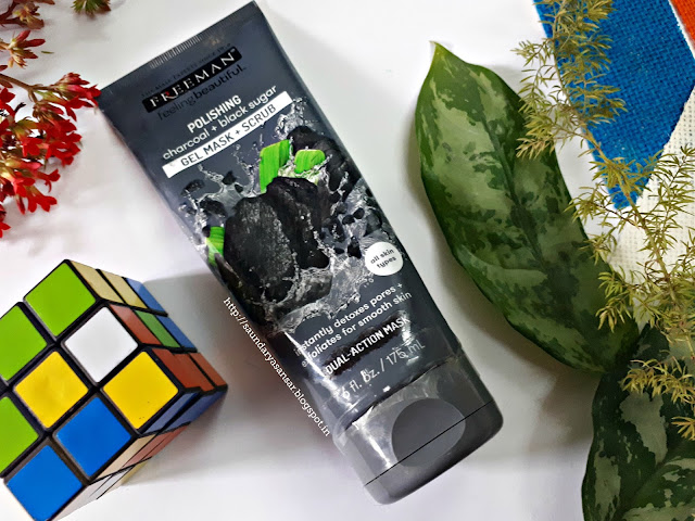 Freeman Feeling Beautiful Polishing Charcoal + Black Sugar Gel mask and Scrub: Review