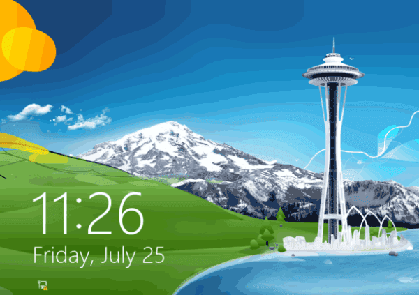 Asus laptop Windows 8/8.1 lock screen