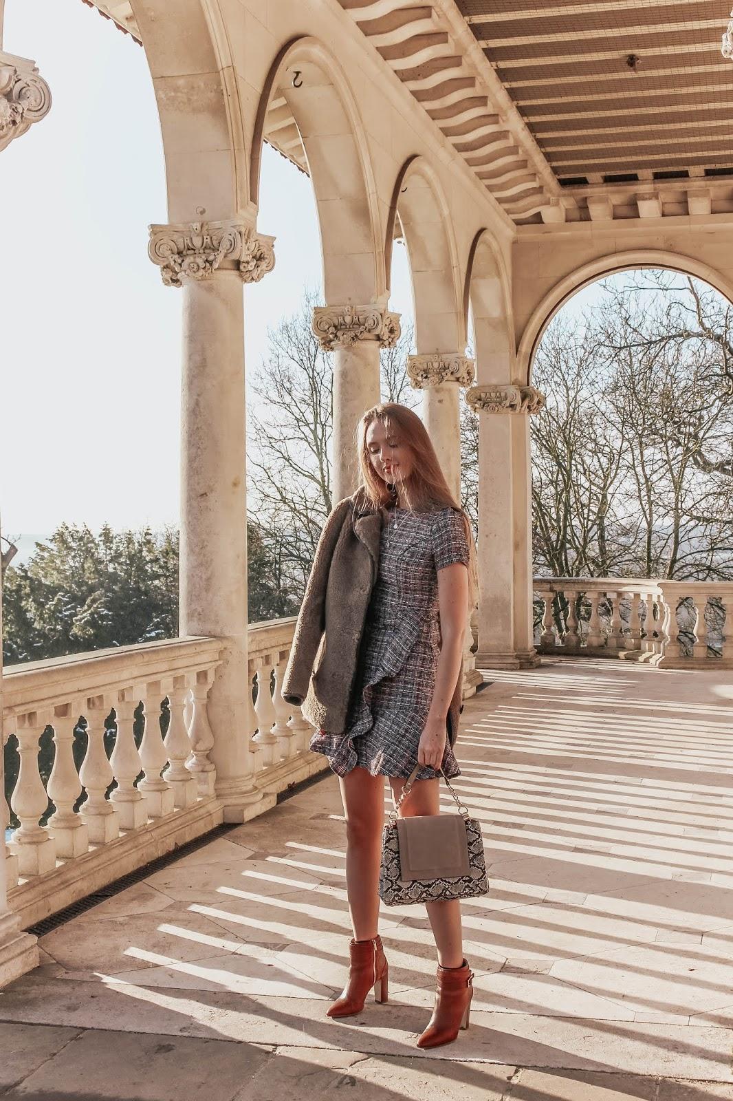angel eye tweed mini dress blogger