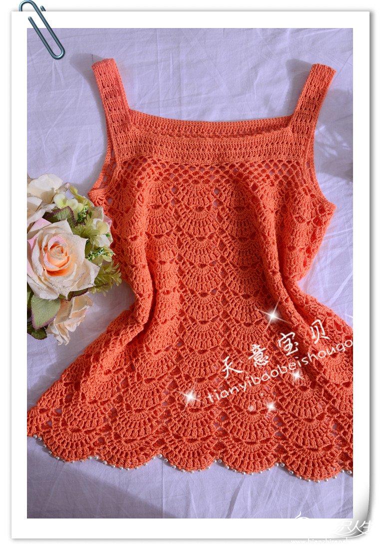 Tejiendo con Google: Musculosa Crochet