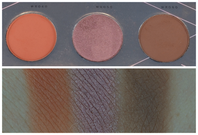 Zoeva warm spectrum Palette Swatches