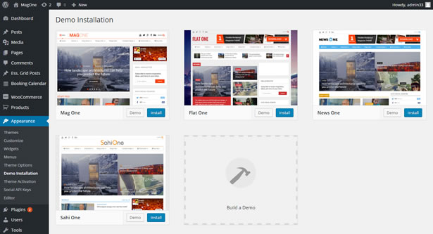1-Click Installation News WordPress Theme
