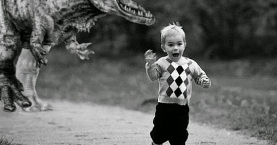 Dinosaur Chasing Child Photoshop Jurassic World