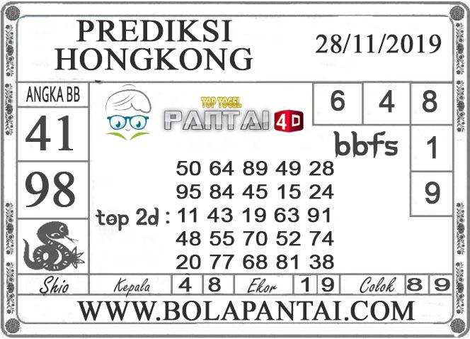 PREDIKSI TOGEL HONGKONG PANTAI4D 28 NOVEMBER 2019