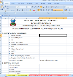 Download Format File Formulir SKP Terbaru 2015