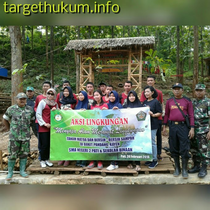 Personel Babinsa Koramil 04 Kayen Peduli Alam Bersama Siswa Dan Siswi Sekolah