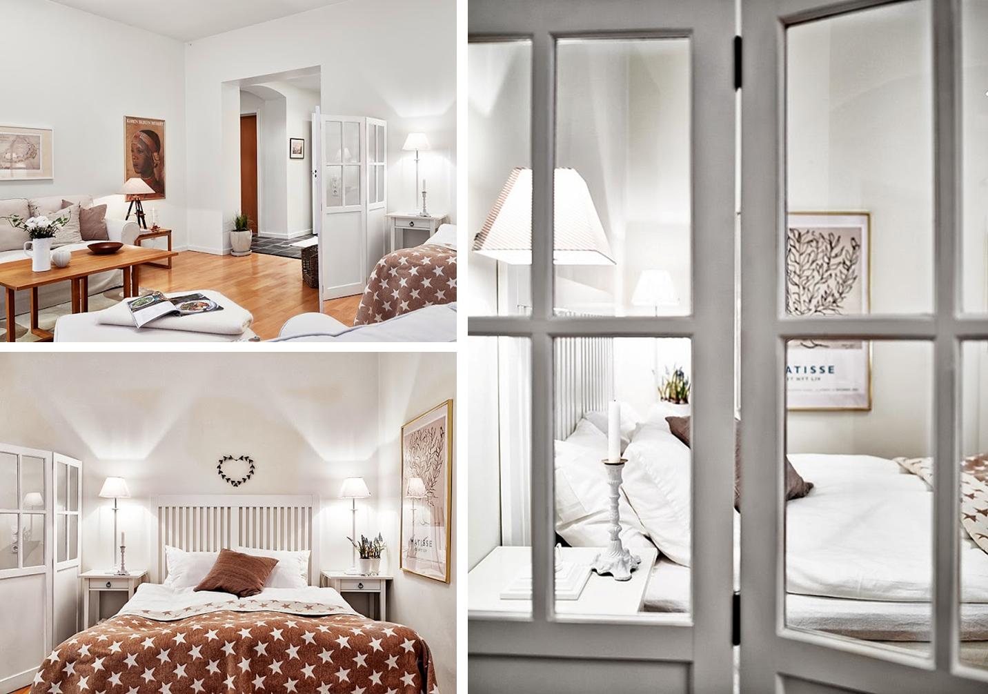 Decoraci n f cil small low cost apartamentos peque os - Cortinas dormitorio ikea ...