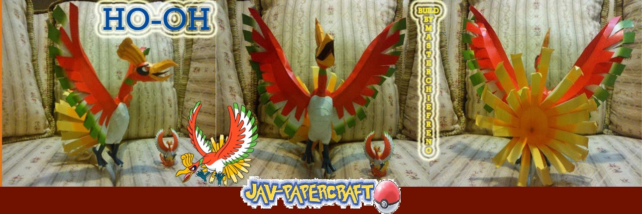 Pokemon Ho-Oh Papercraft
