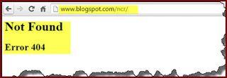 طريقة اصلاح الخطأ 404 فى مدونات بلوجر  www.blogspot.com/ncr/