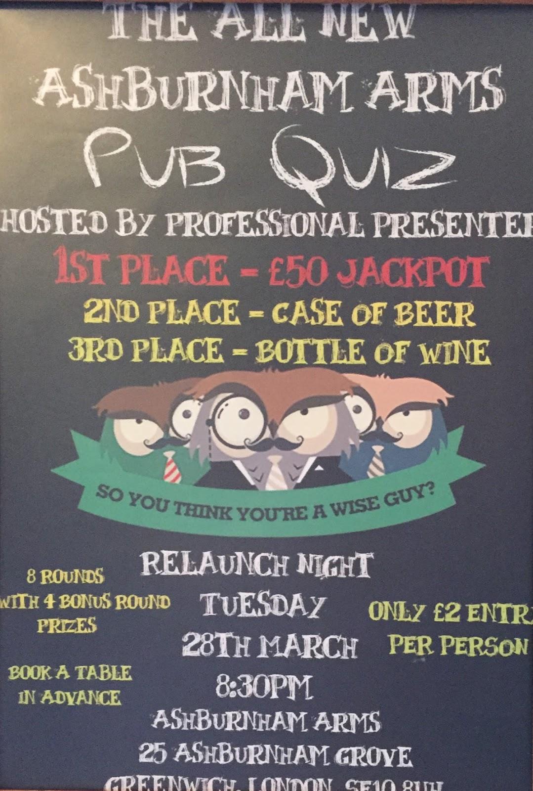 Ashburnham Triangle Association: New Pub Quiz at the