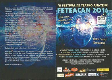 Vi Festival de Teatro Amater FETEACAN en Casyc de Santander