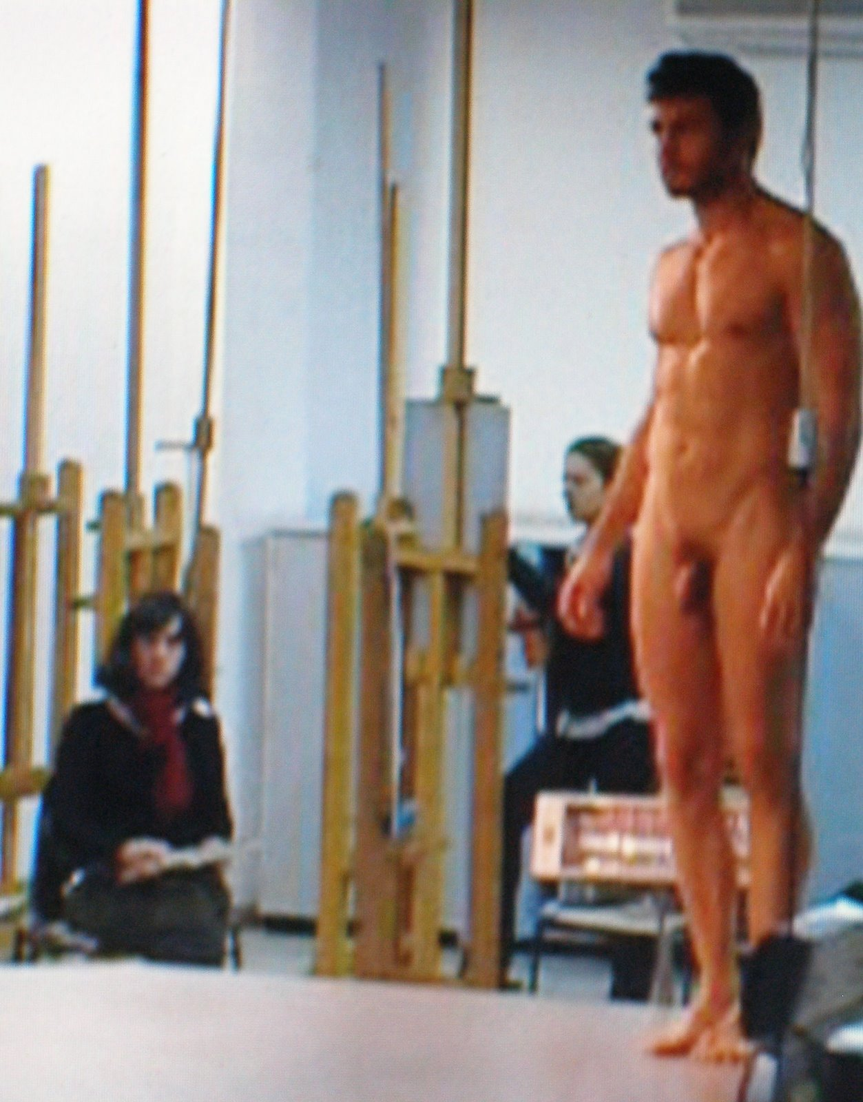 nude male and female art modles