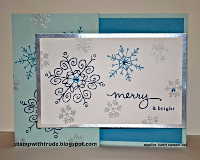 Endless Wishes, Christmas card, Merry Snowflake card, Trude Thoman, stampwithtrude.blogspot.com , Stampin' Up!