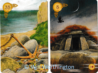 Celtic Lenormand anchor burial mound coffin