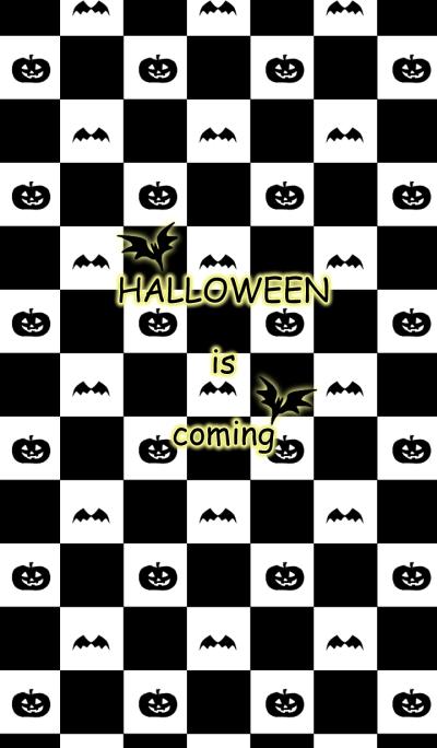 Black check halloween theme