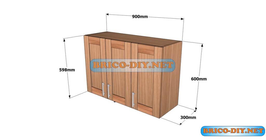 Planos detallados para hacer un mueble alto de cocina de for Muebles de cocina planos pdf