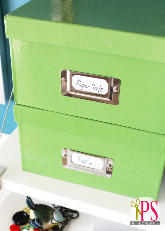 I Purchased Four Media Boxes At Jo Ann To Display On The Shelves, Which Are  Perfect For Storing Any Number Of Crafting Supplies And Tools, And The  Price ($3 ...