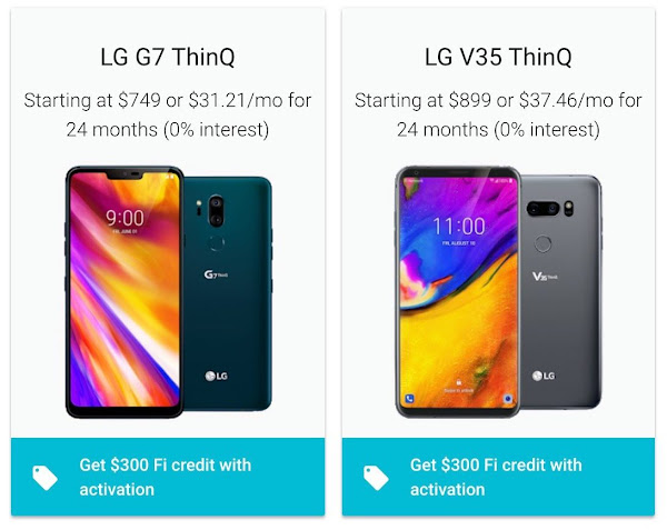 $300 off the LG G7 and LG V35 on Google Fi
