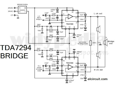 Bridge TDA 7294 Power Amplifier