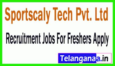 Sportscaly Tech Pvt. Ltd Recruitment Jobs For Freshers Apply
