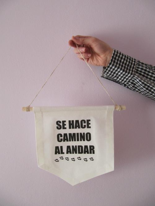 Acabado DIY Banderola de tela