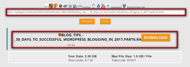 Filenext Premium Link Generator