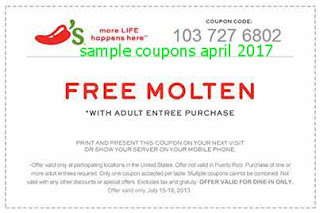 Chili's coupons april