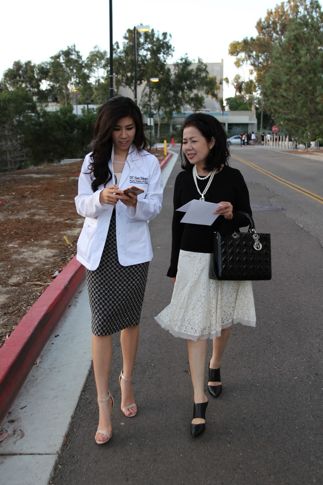 Adrienne Nguyen_Anthropologie shift dress_What to wear to a white coat ceremony