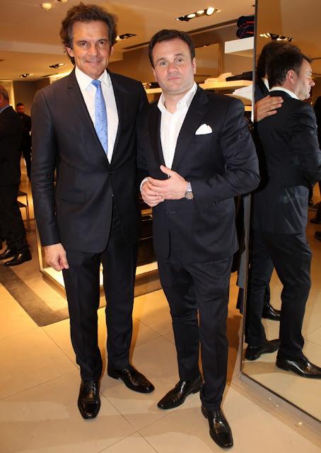 Claudio Rígoli y Juan Pablo Maglier en Hugo Boss del Patio Bullrich