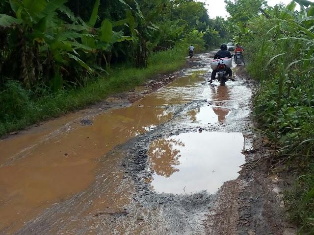 Warga Pemulutan Selatan Keluhkan Jalan Rusak