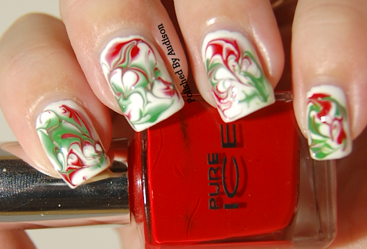 12 Days of Christmas Nail Art Challenge | Day 7 | Red and Green