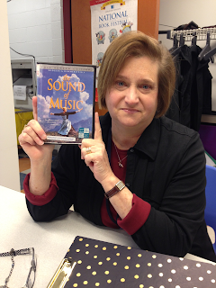 Carol holding a DVD copy of the Sound of Music