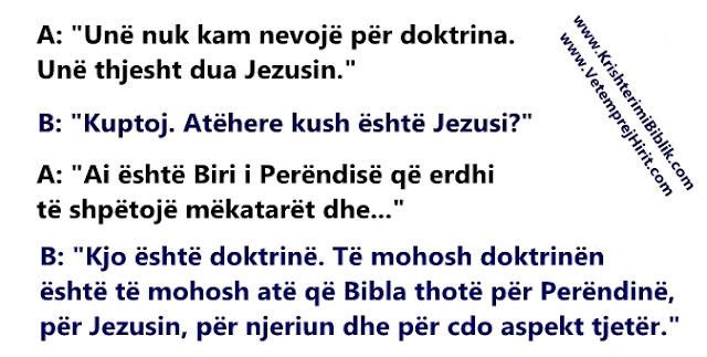 doktrina, Jezusi, thenie biblike,