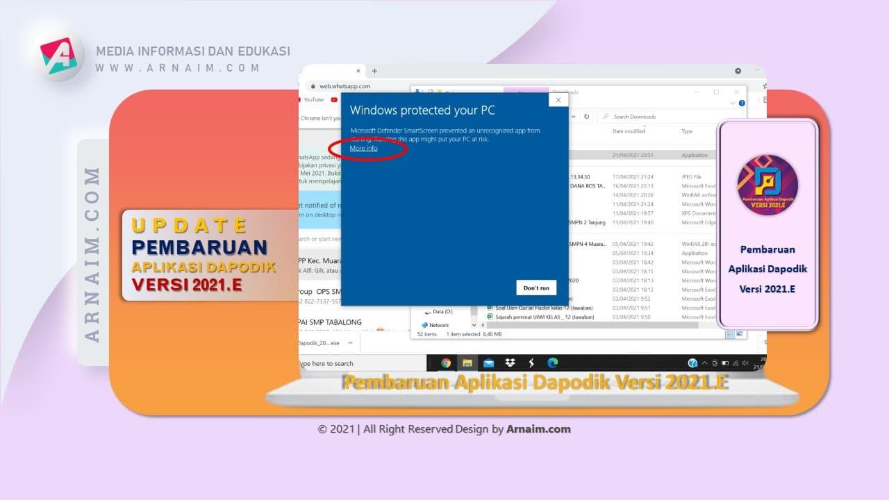 Arnaim.com - Update Pembaharuan Dapodik 2021.e | Windows Protected Yout PC