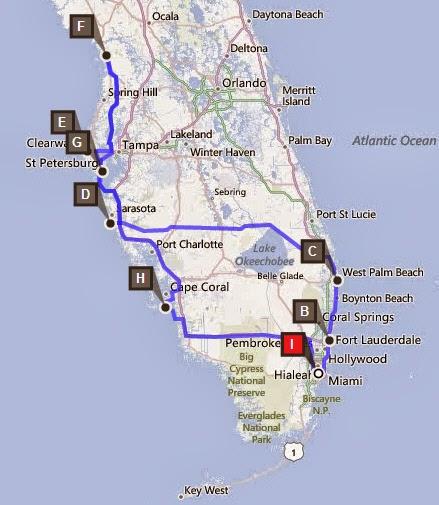 Kosten 2 Wochen: Route Westflorida