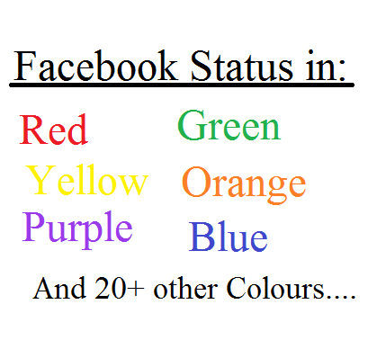 Post Facebook Status in different colours with Facebook