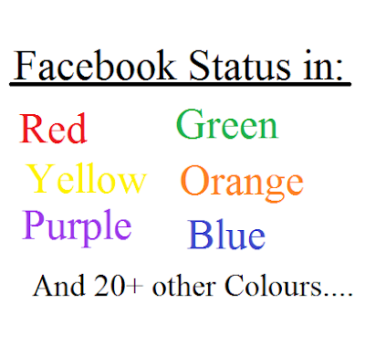 Post Facebook Status in different colours with Facebook Colour Codes (2017 UPDATE).