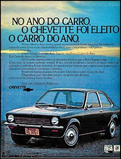 propaganda Chevette 1974, Chevette 74, GM anos 70, Chevrolet década de 70, carros Chevrolet anos 70, Oswaldo Hernandez,