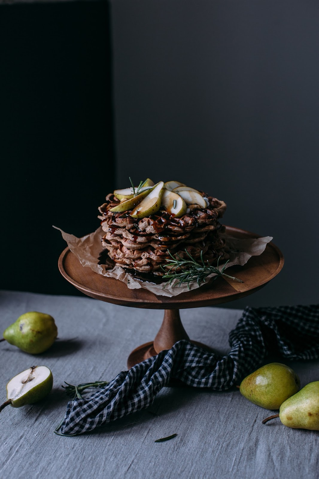 glutenfree apple-cinnamon waffles with pears and a tea infused ...