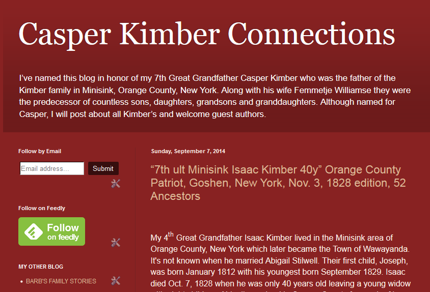 www.CasperKimberConnections.blogspot.com