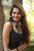 Aswini in lovely Deep Neck Sleeveless Black Dress Spicy Pics ~  Exclusive 11.JPG