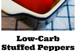 LOW-CARB STUFFED PEPPERS WITH ITALIAN SAUSAGE, GROUND BEEF, AND MOZZARELLA