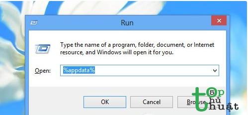 Xóa file username