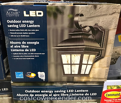 Ensure the outside of your home has the proper lighting with the Altair Outdoor LED Coach Light