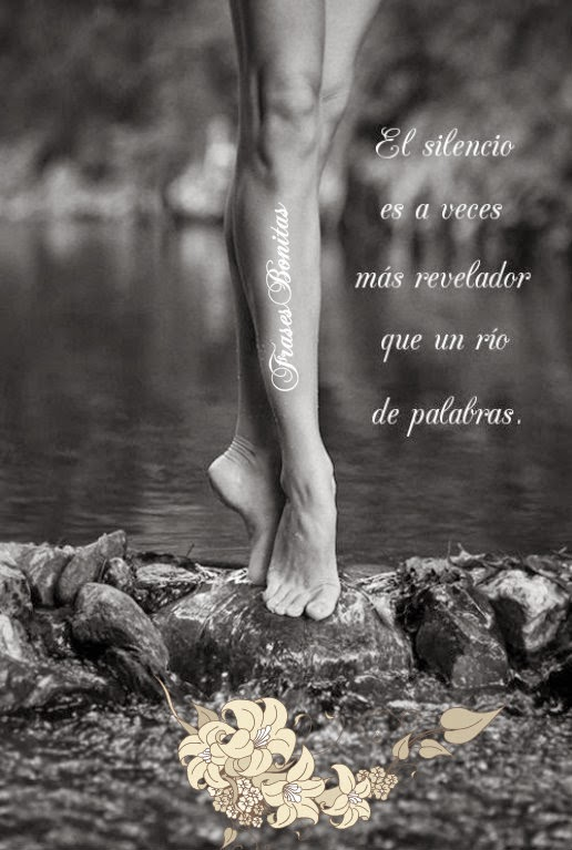El silencio es a veces más revelador que un río de palabras.